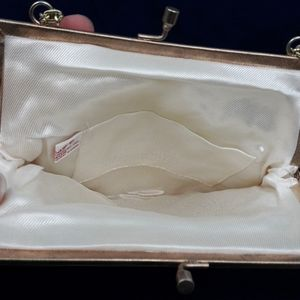 Ernest Bags - Vintage Ernest White Bead and Pearl Evening Purse